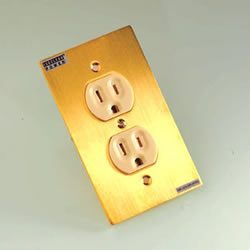 New ISOCLEAN ICP-003 AG Power Wall Socket 24K Gold Plated